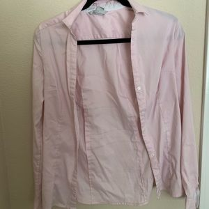 Pale pink professional button-up